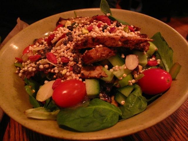 Super Protein Salad at Fresh vegetarian restaurant.