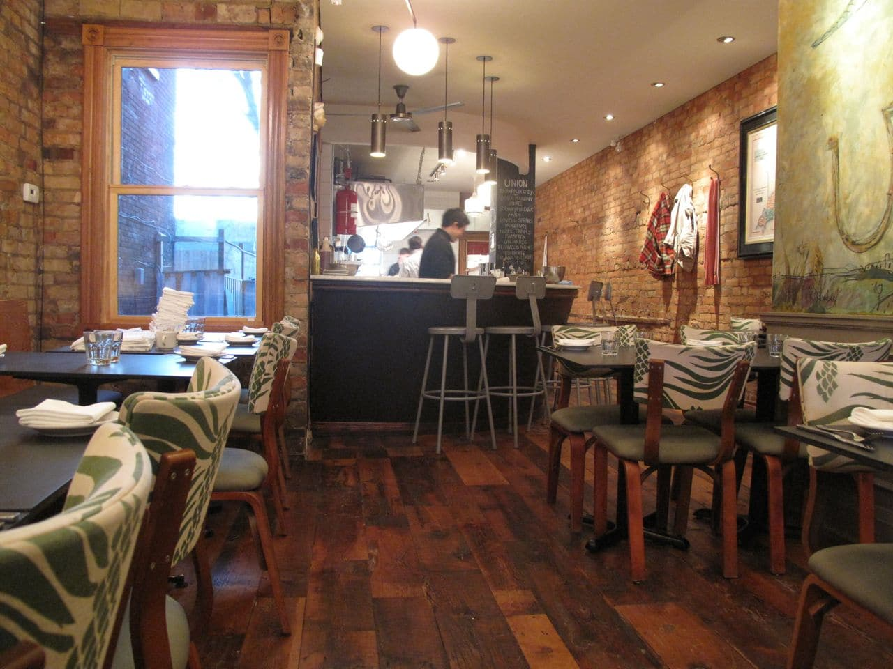 Ossington Restaurants: The dining room at Chef Leo Paul's Union.