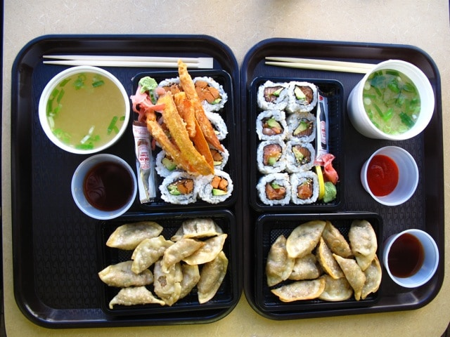 Sushi at CJ Lunch Box in Toronto