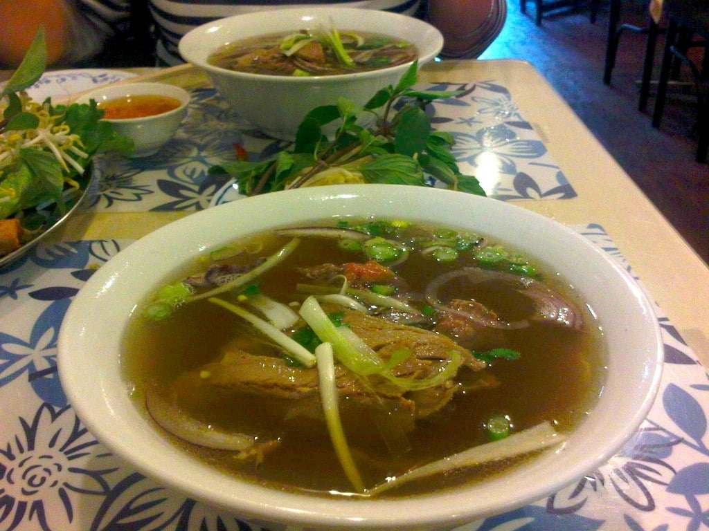 Pho at Anh Dao Restaurant in Toronto's China Town