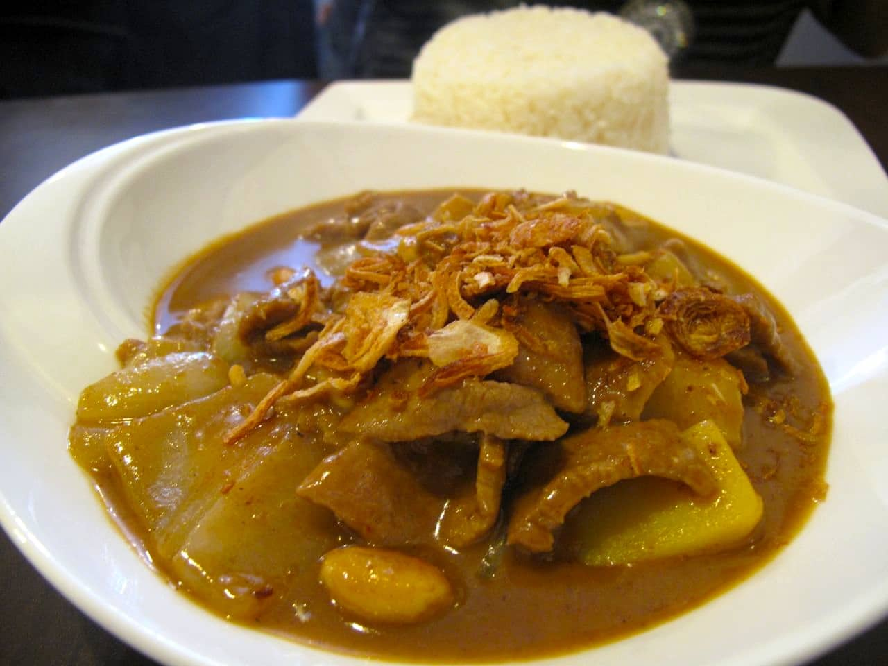 Masaman Curry at Sukothai Restaurant in Toronto.