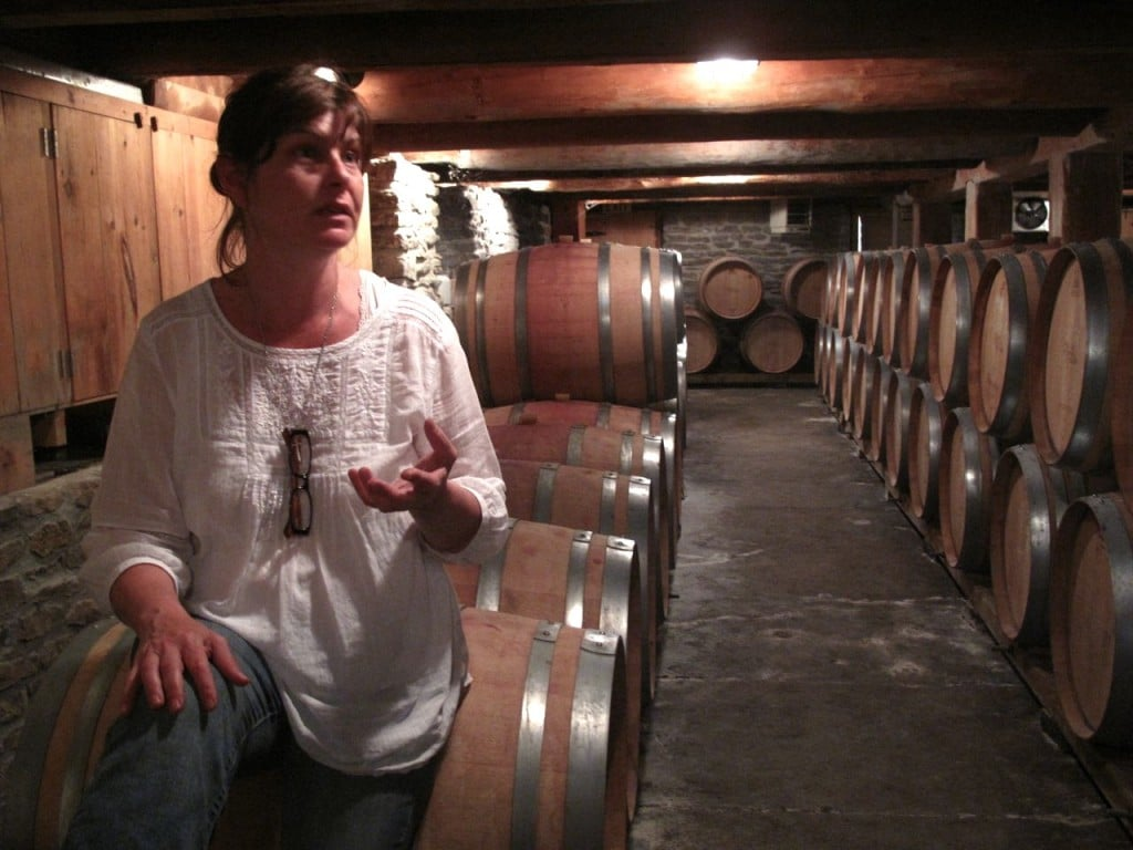 Wineries in Prince Edward County: Cellar tour at The Grange.