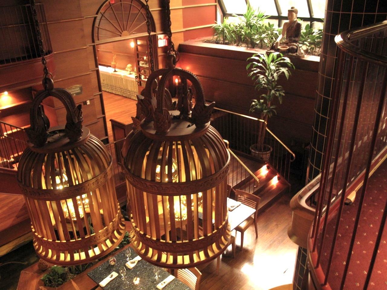 The magical interior of Bangkok Garden, a popular Thai restaurant in Toronto.
