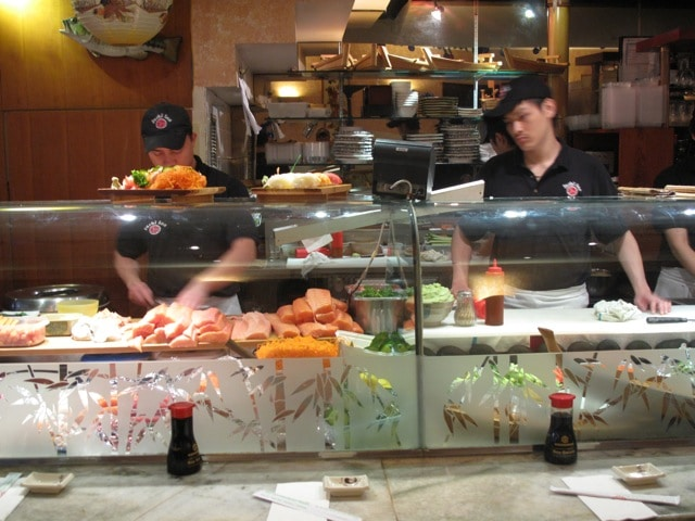 Sushi Inn is one of Yorkville's most popular Japanese restaurants.