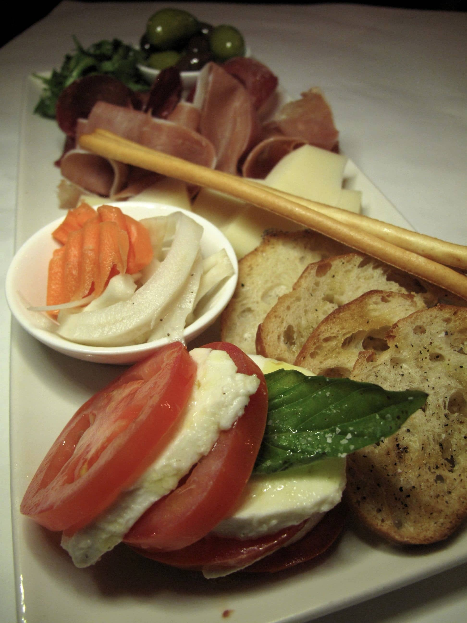 Cheese and charcuterie board at Il Fornello Danforth.