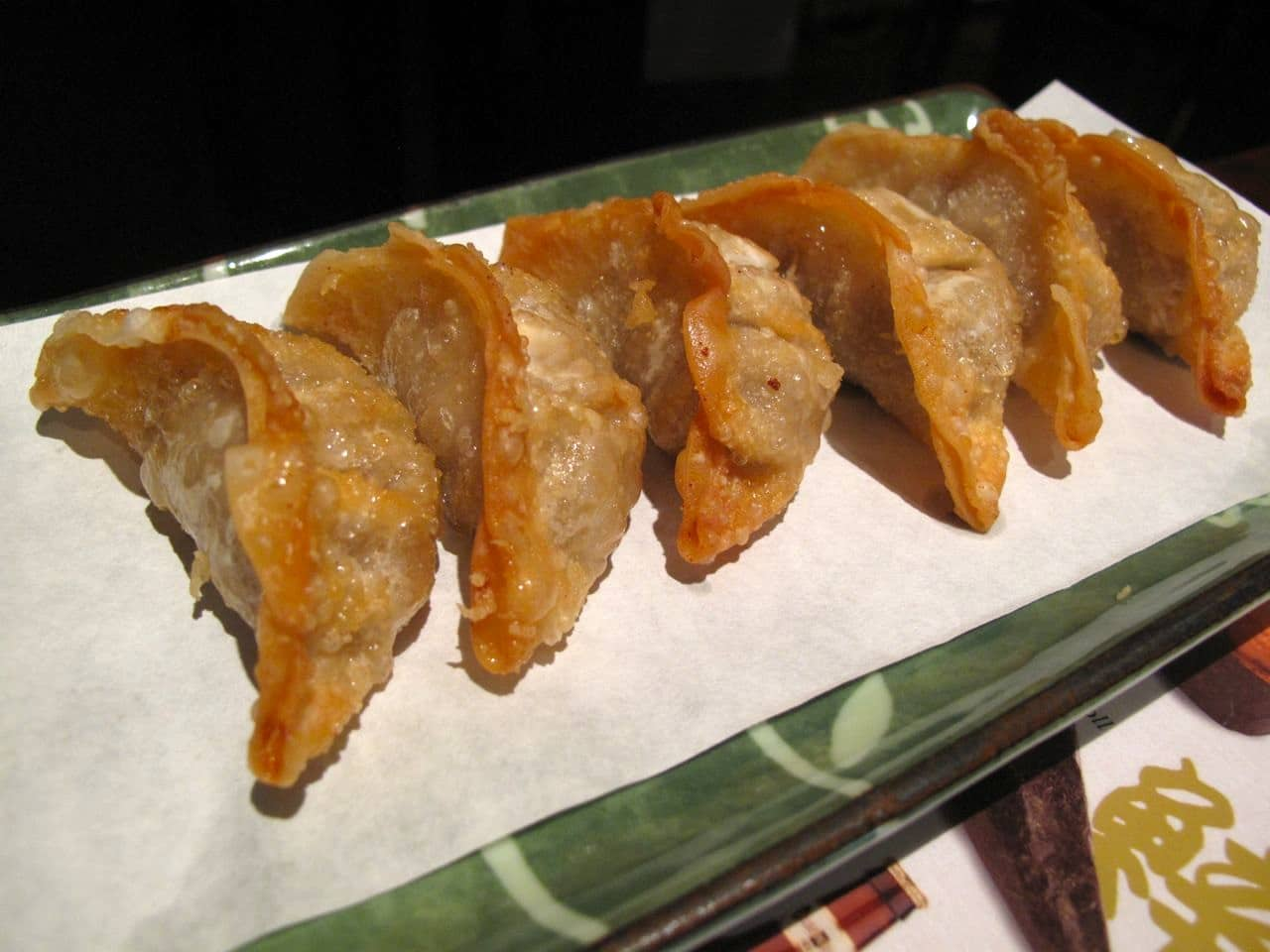 Japanese Gyoza at Japango sushi restaurant in Toronto.