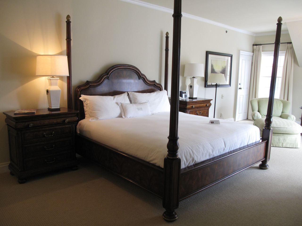 Luxurious suite at Windermere House, a boutique Muskoka hotel on Lake Rosseau.