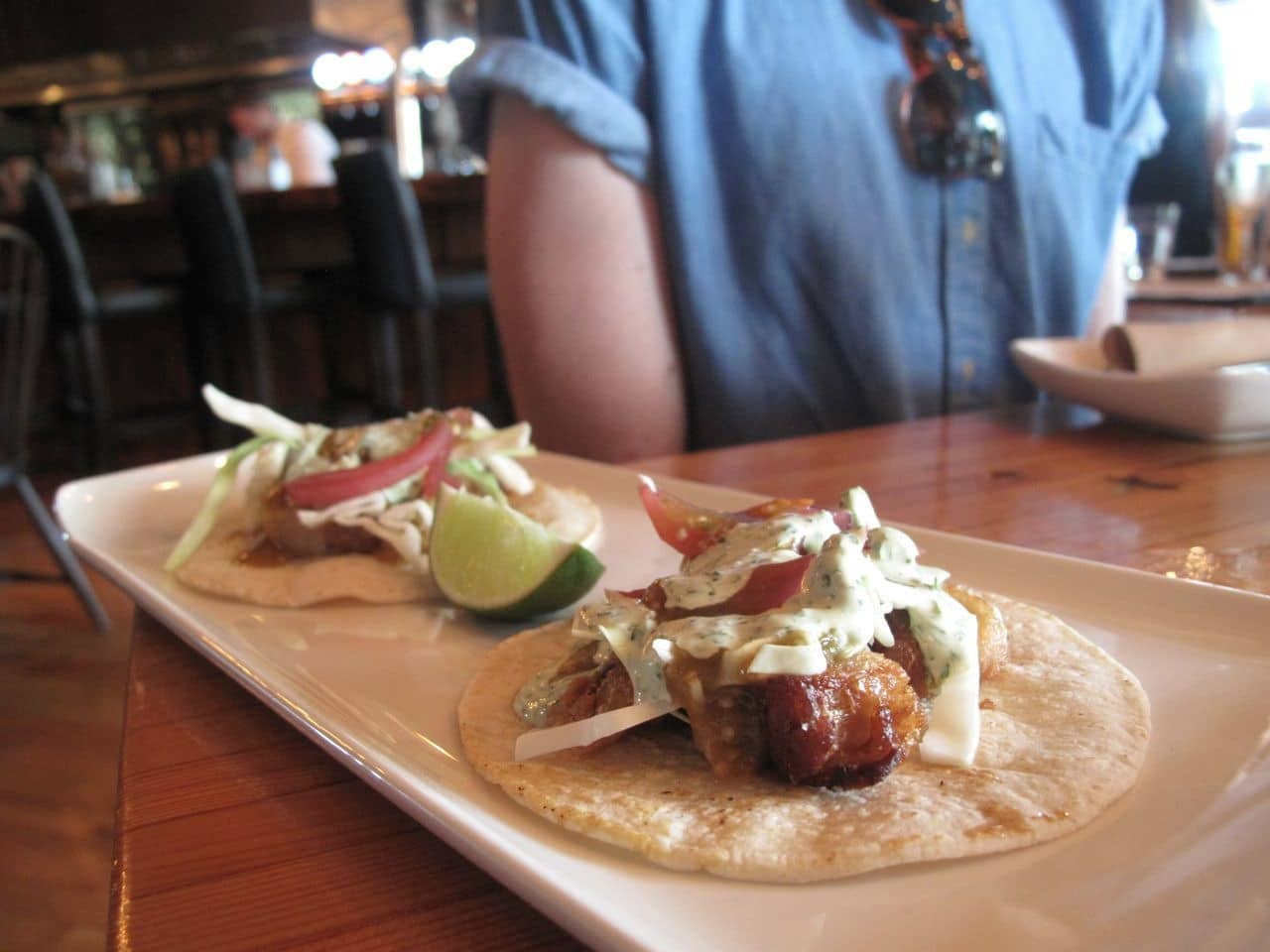 Tacos at Plank Oakville.