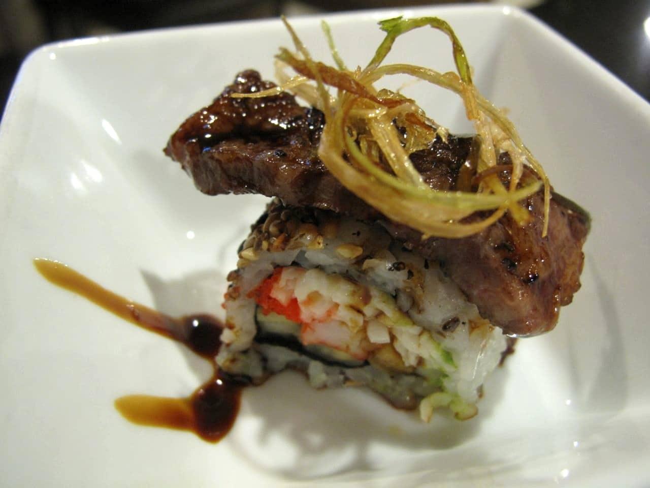 Order from an extensive sushi menu at Arisu Toronto.