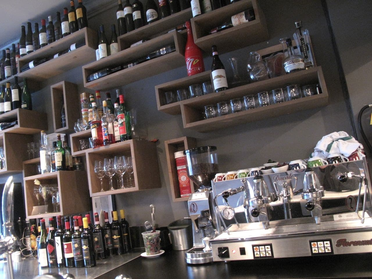 The bar at Ascari Enoteca in Leslieville.