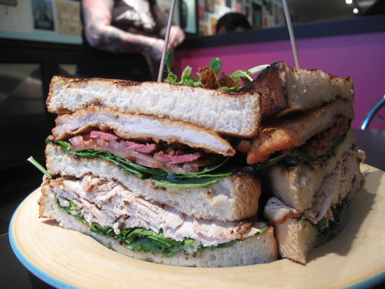 The Early Bird London's Turducken Club Sandwich.