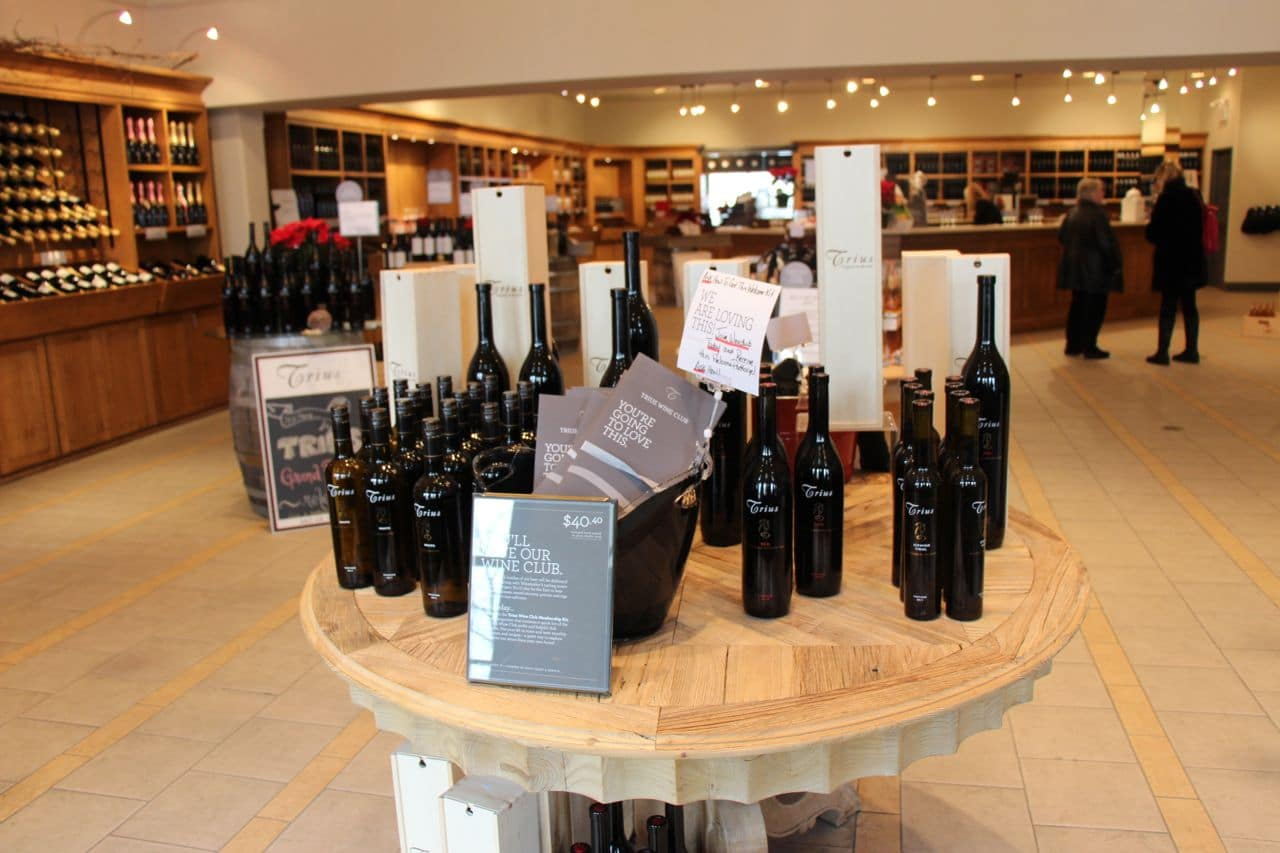 Trius Winery offers a retail shop, tasting room, tours and fine dining restaurant.