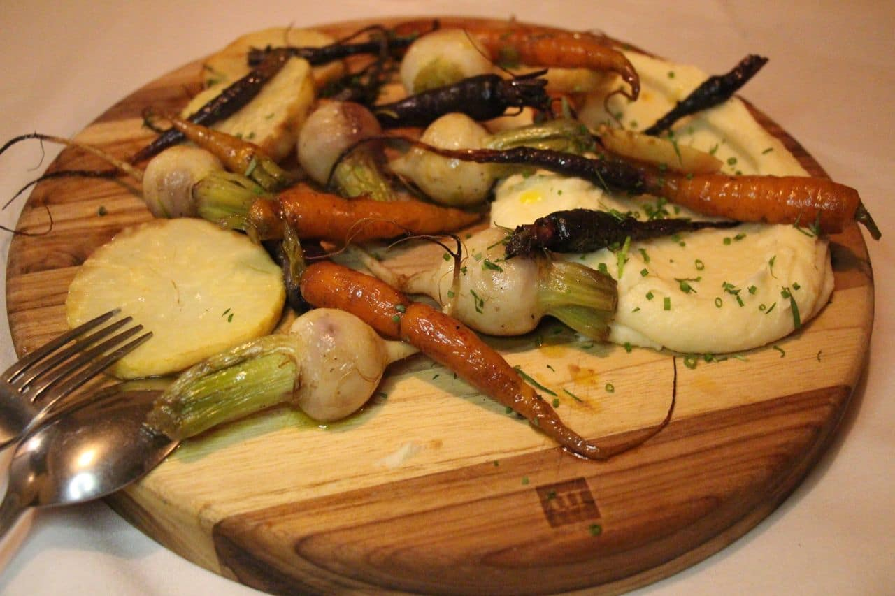Confit Roasted Vegetables at Farmhouse Tavern Toronto.