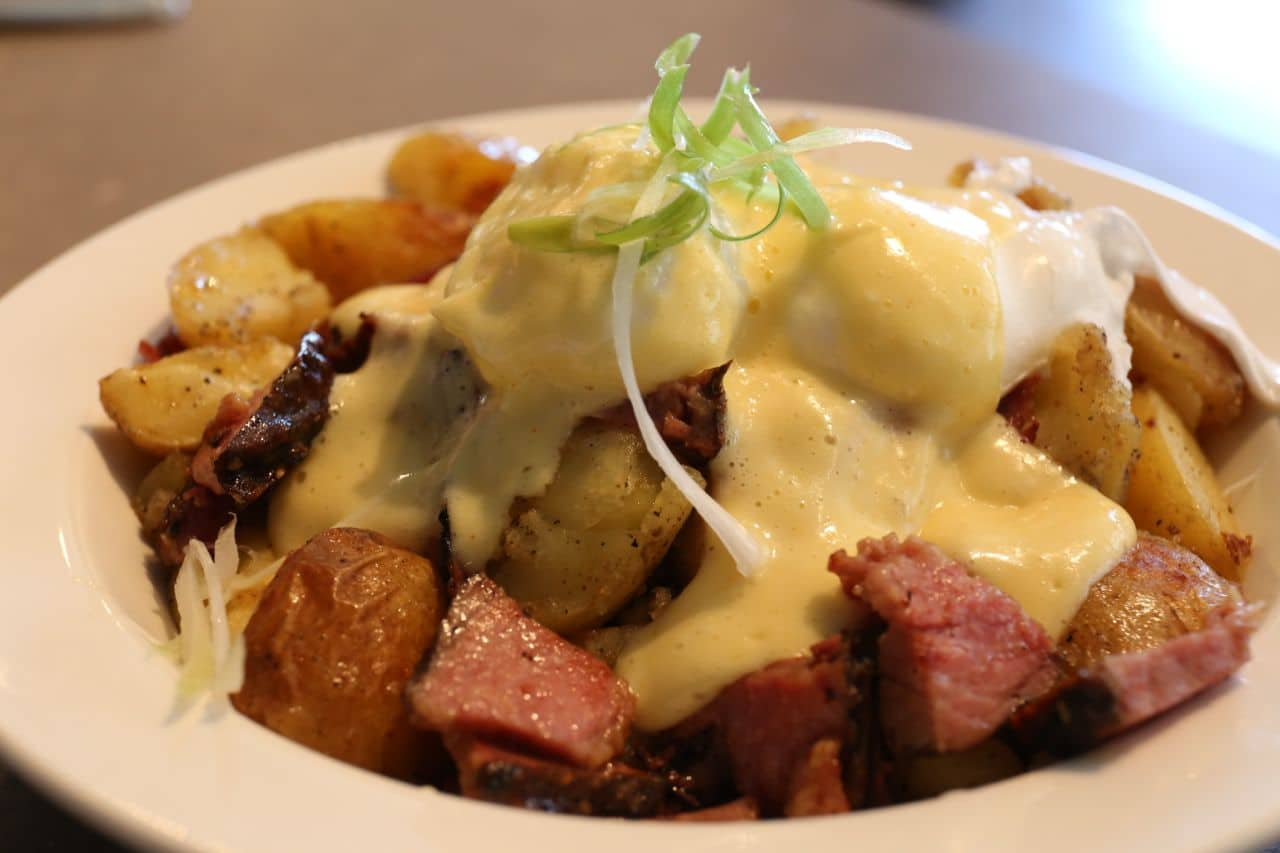 Smoked and Poached Breakfast Poutine