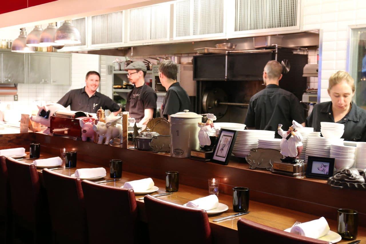 The kitchen at Charcut Calgary.