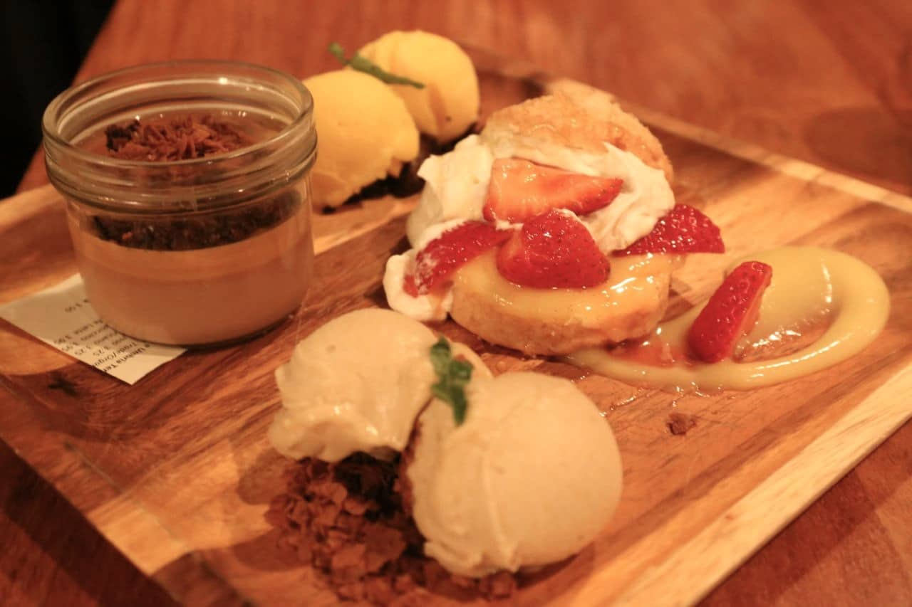 A selection of desserts at Charcut Steakhouse in Calgary.