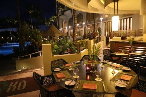 Ko Restaurant at Fairmont Kea Lani in Maui