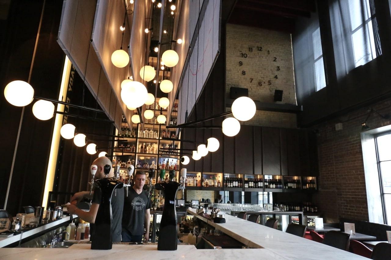 Carbon Bar Toronto's dining room.