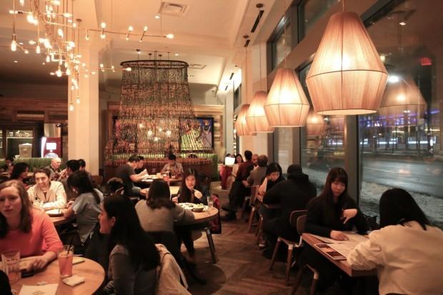 The dining room at Nando's Toronto on Bay Street.