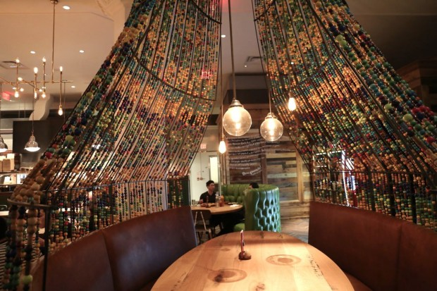 Nando's Toronto restaurant interiors are decorated with South African art.