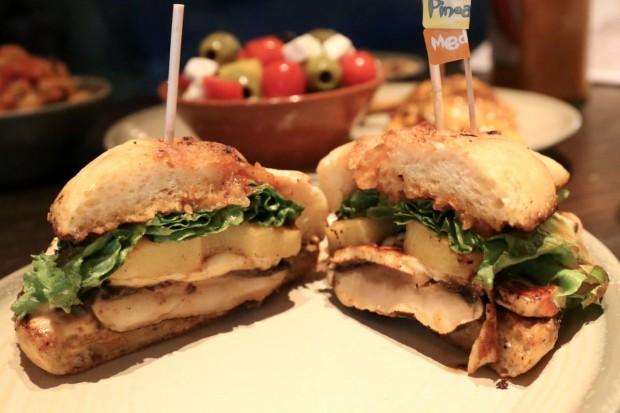 Portobello Mushroom & Halloumi Sandwich at Nando's Toronto.