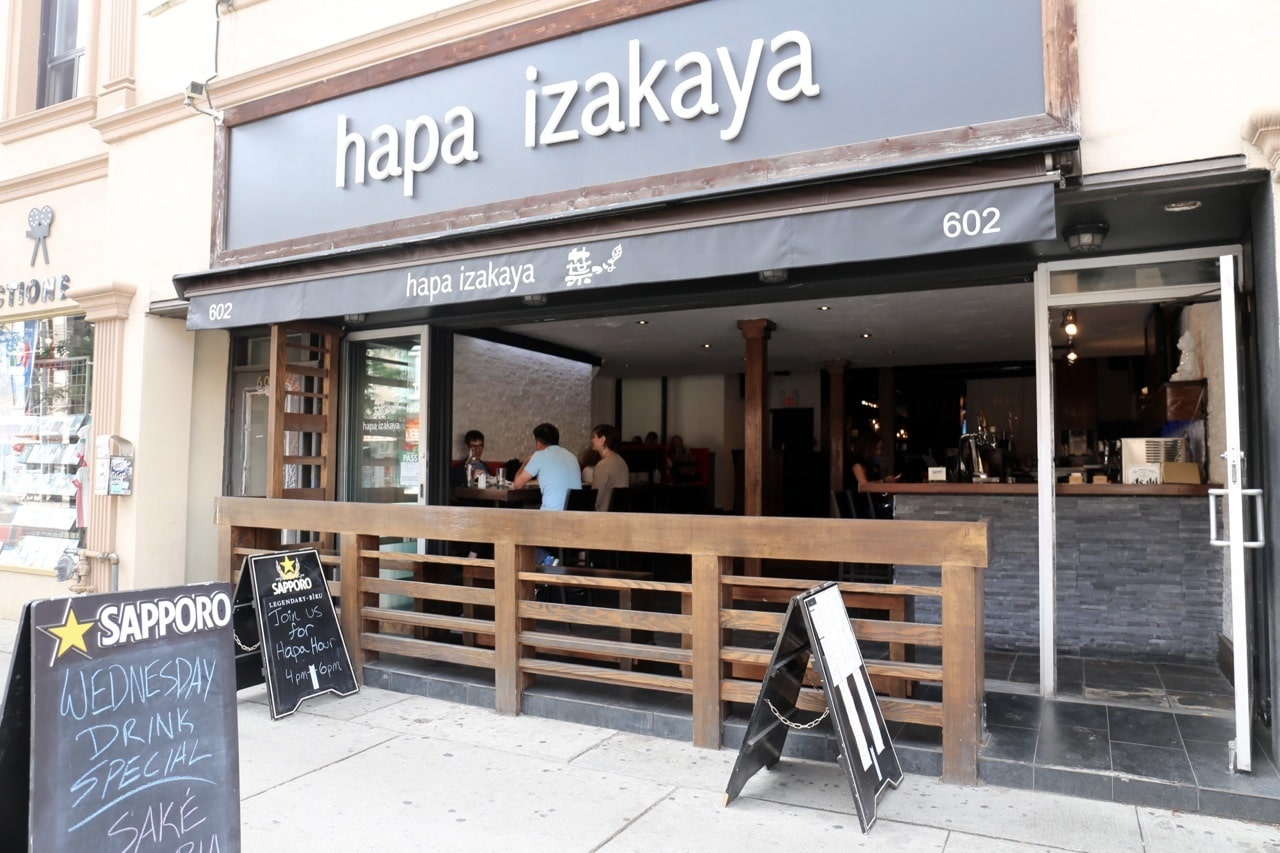 Hapa Izakaya Toronto is located on College Street in Little Italy.