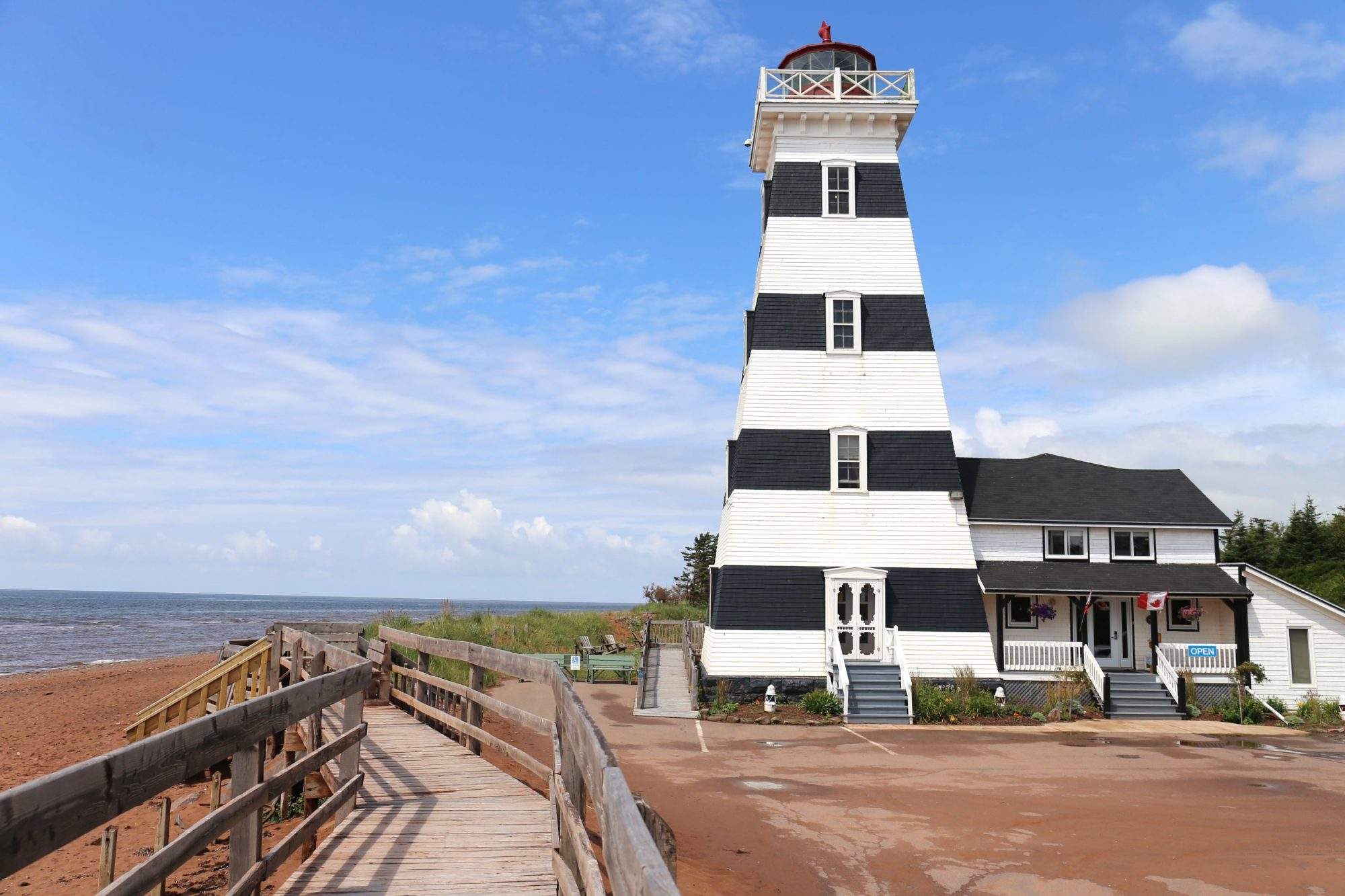 Sleep in a historic lighthouse in Prince Edward Island.