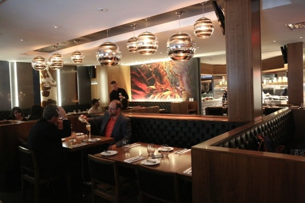 The main dining room at Copacabana Toronto.
