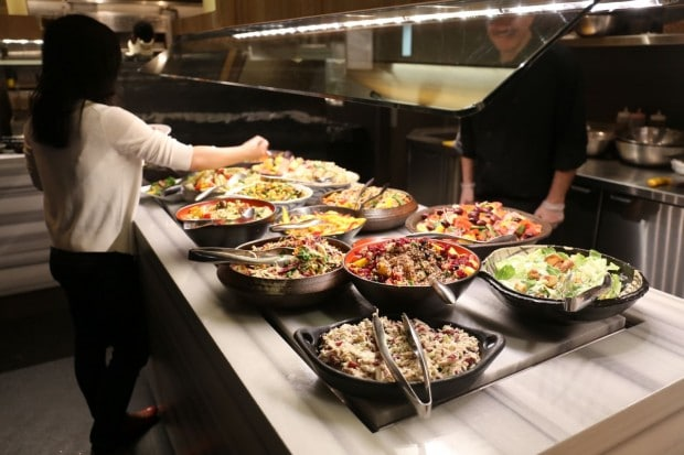 The salad bar at Copacabana restaurant in Toronto.