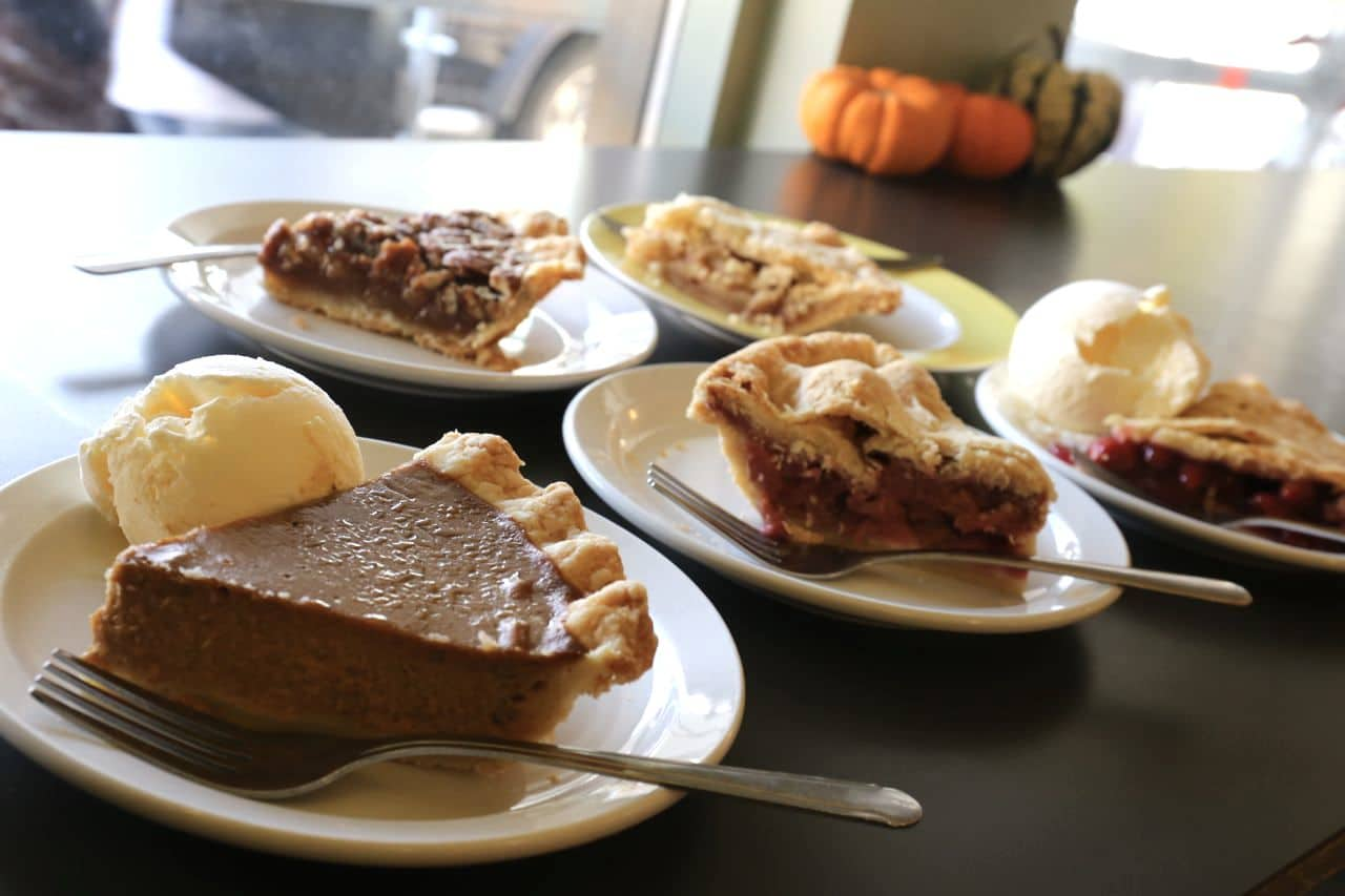 A parade of pies at Shuswap Pie Company.