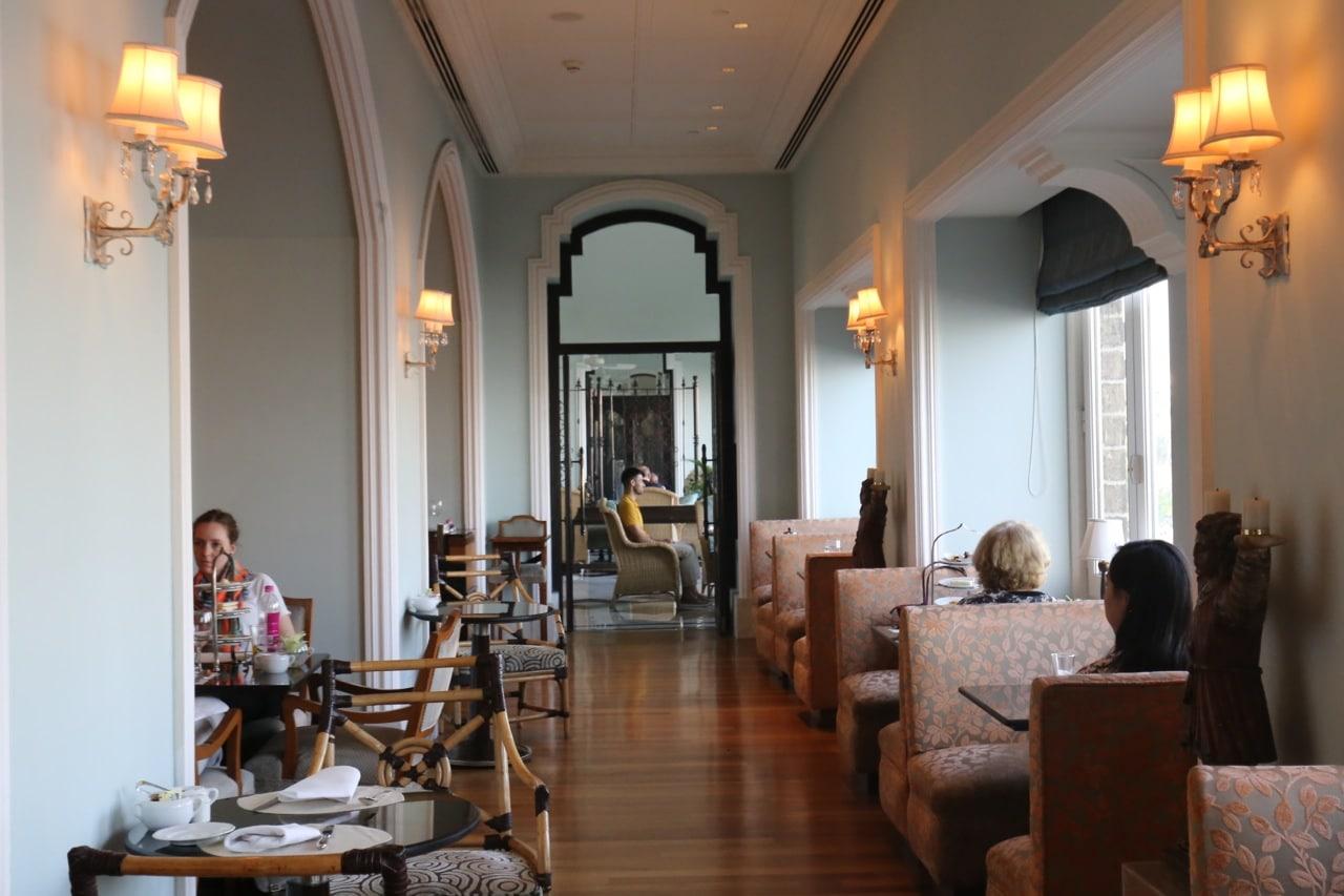 The dining room at Taj Mahal Palace Hotel Mumbai's Afternoon Tea Room.