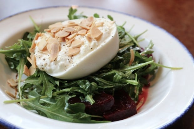 Beet and Burrata Salad at Taverna Mercatto.