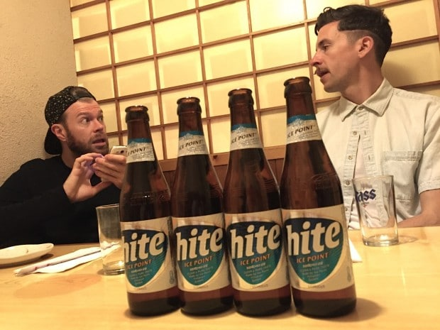 Korean Village Restaurant serves Hite, a popular beer from Korea.