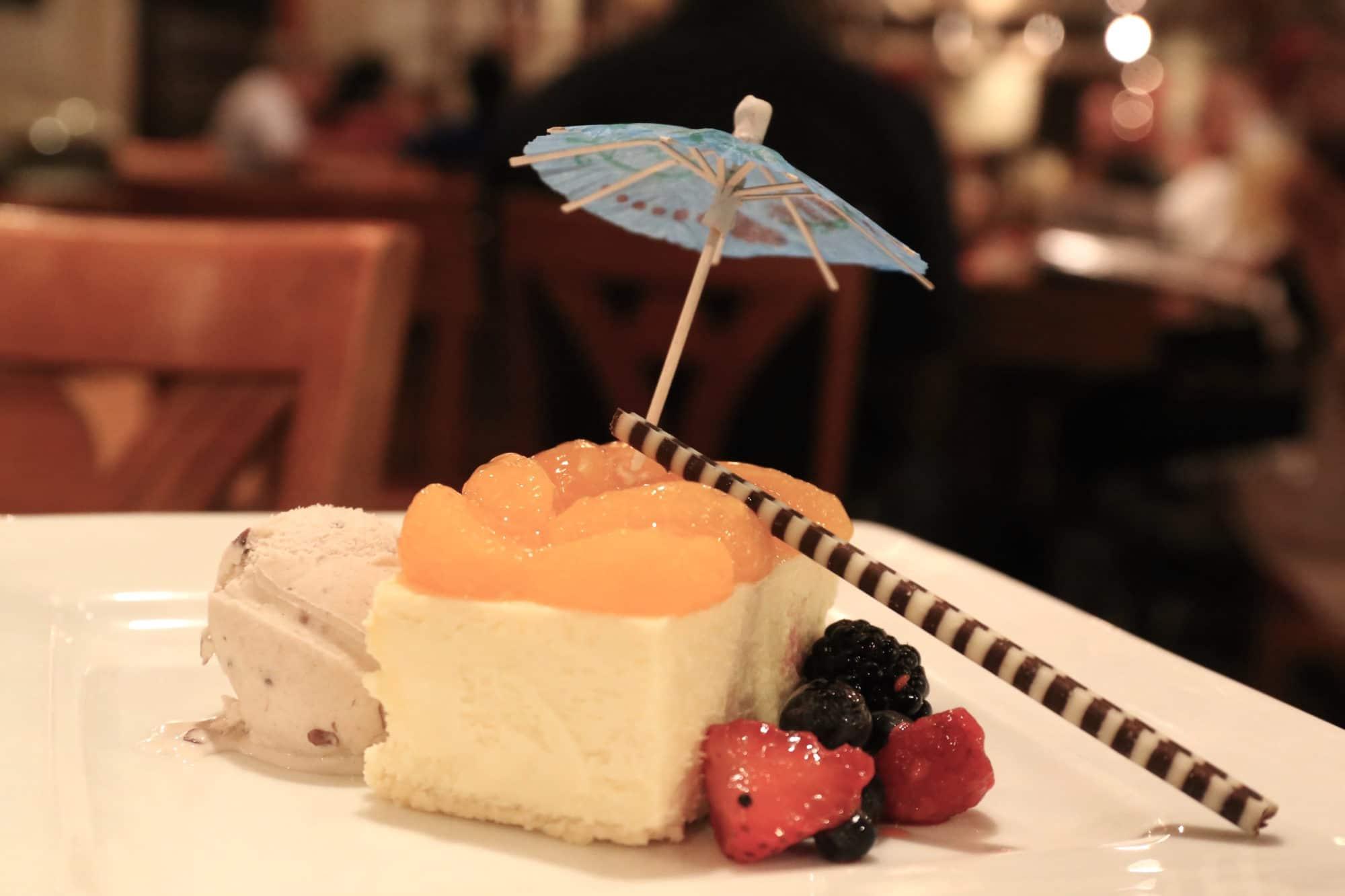 Lemon and Mandarin Cheesecake with Red Bean Icecream at Benihana