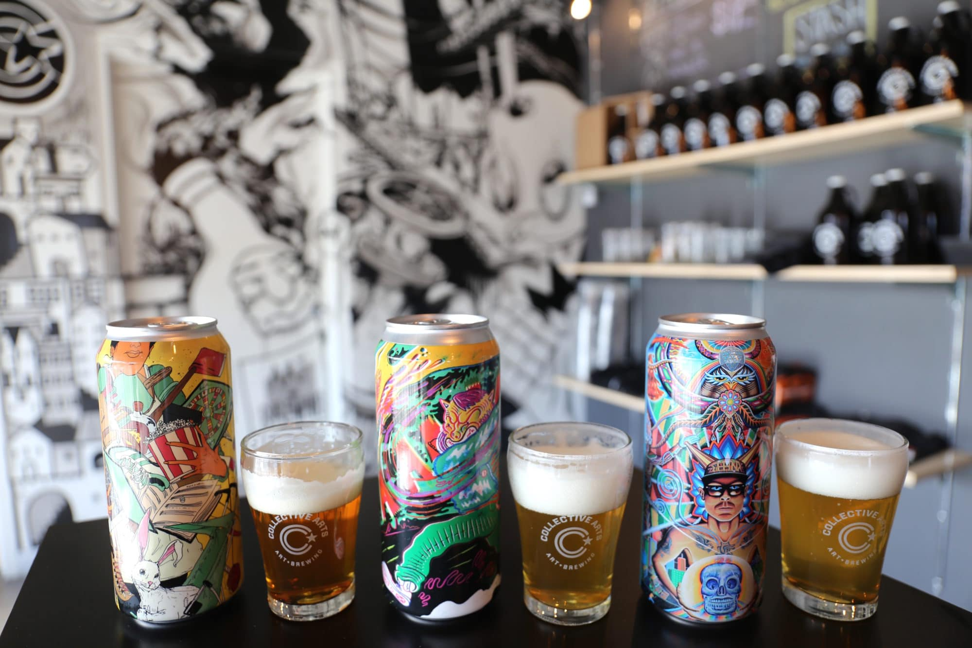 Collective Arts is a popular Hamilton brewery known for its art adorned cans.