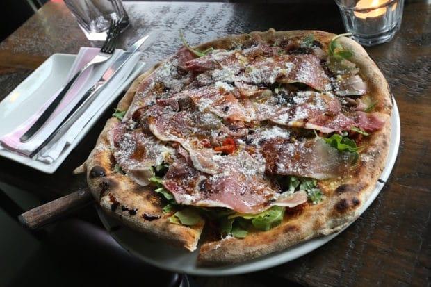 Prosciutto Pizza at The Good Son Toronto.