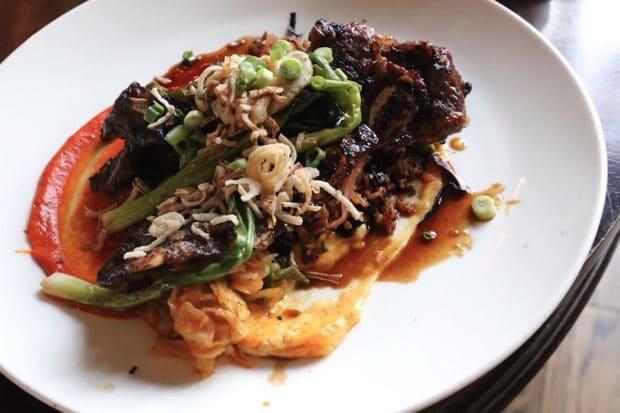 Bulgogi Short Ribs with kimchee fried rice at The Good Son Toronto.