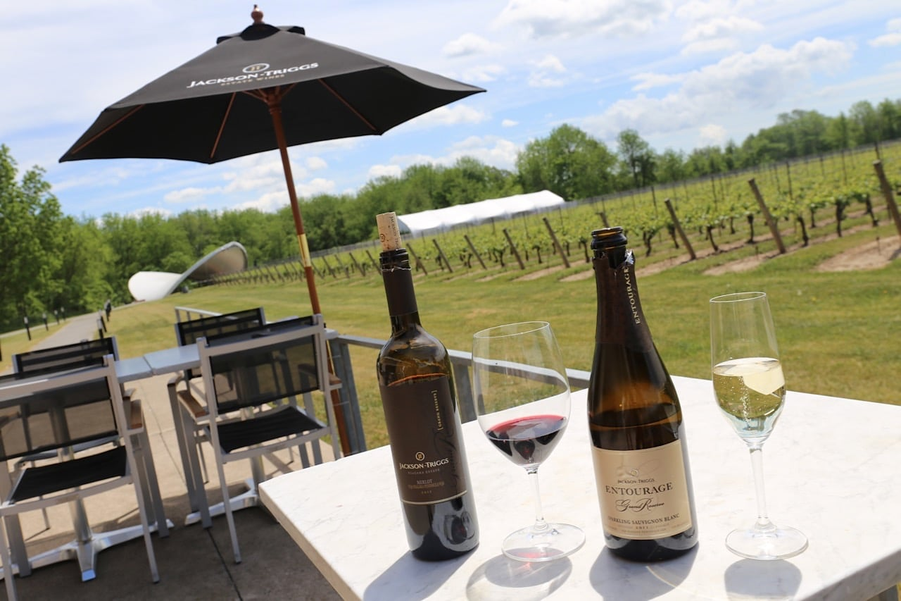 Begin your bike tour of Niagara on the Lake's wineries at Jackson-Triggs.