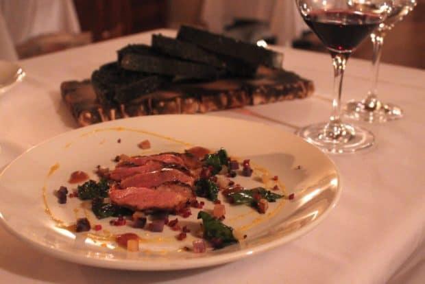 A romantic dinner at Mount Julian Restaurant.