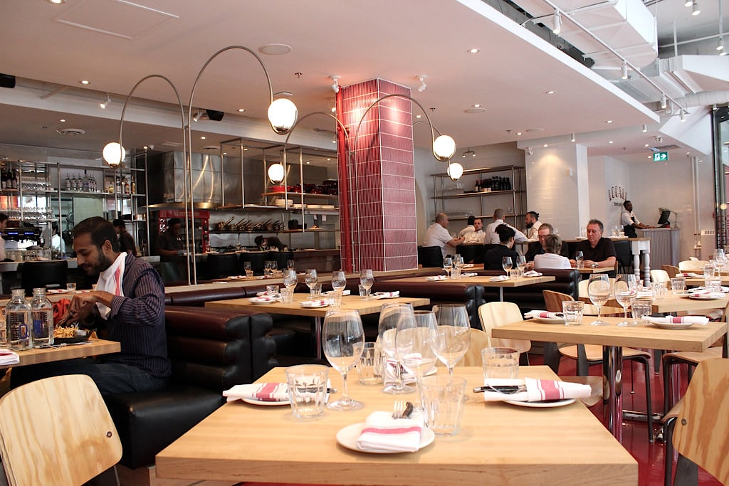 The dinning room at Locale Mercatto on Bay Street in Toronto.