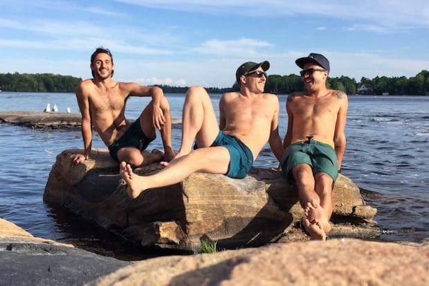 Plan a gay holiday with gay yoga lovers Adam, Andrew and Antonio from Men's Retreats.