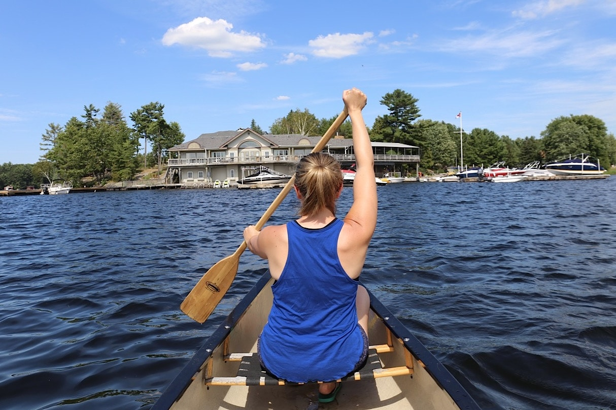 Canoe or kayak on Lake Muskoka at Taboo Resort.