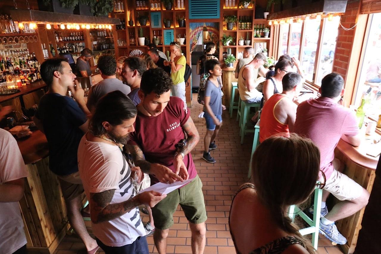 El Rey Mezcal Bar's bustling dining room in Kensington Market.