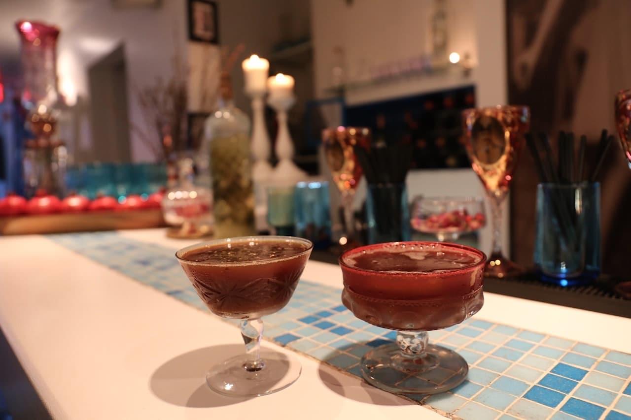 Persian cocktails at Banu Toronto's Bar.