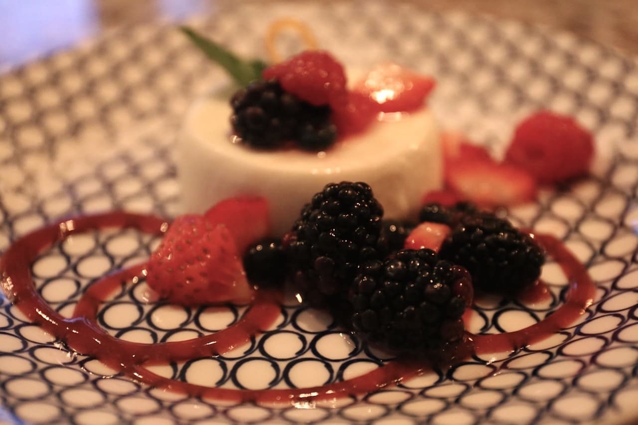 Panna Cotta at Nodo Junction, an Italian restaurant in Toronto.