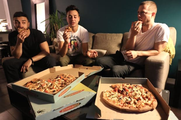 Plan a fun weekend dinner party with friends by ordering pizza delivery in Toronto.