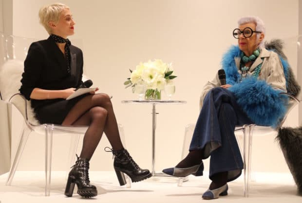 Fashion Icon Iris Apfel Sparkles with Swarovski at Holt Renfrew