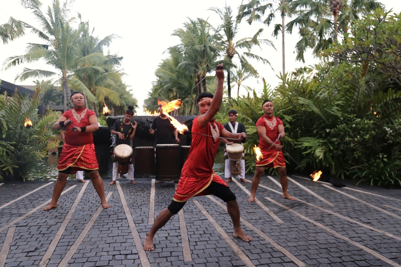 Nightly Balinese fire dance at the St Regis Resort.