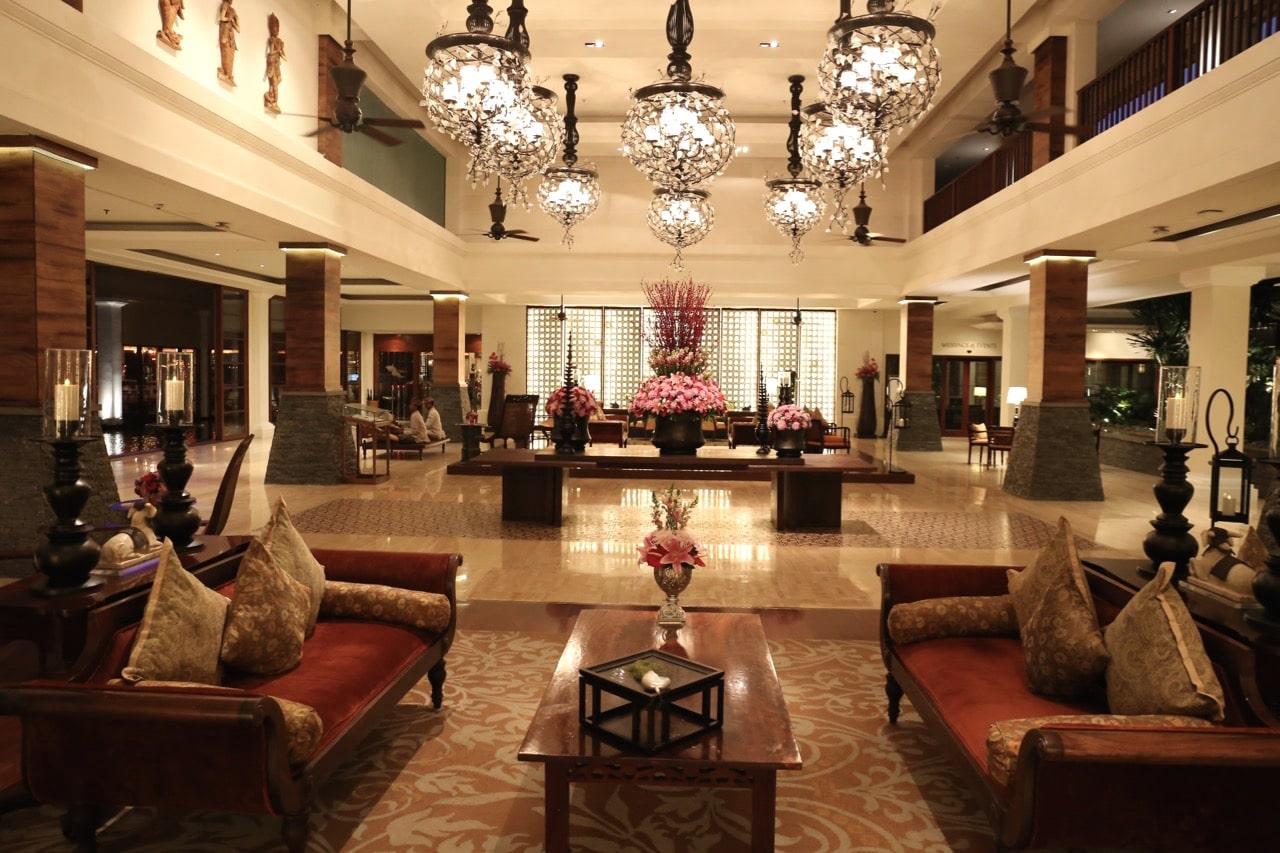 St Regis Bali's luxurious lobby.