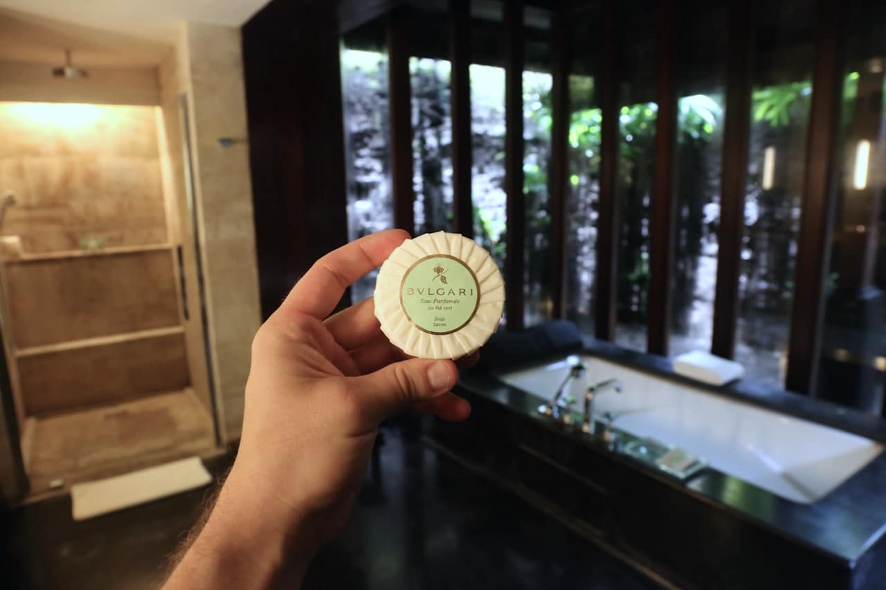 All guests enjoy Bulgari bath amenities.